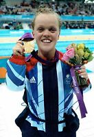 Ellie Eleanor SIMMONDS Autograph Signed Photo AFTAL COA Gold Medal Swimmer RIO