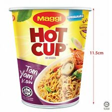 Maggi Cup Tom Yam Kaw Spicy Asian Food