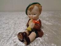 Vecchio Hummel Figura Bambino Con Flauto