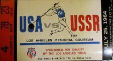 1964 USA vs USSR Track and Field Meet Los Angeles Ticket Stub
