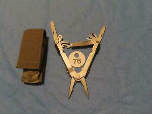 GERBER MULTI-TOOL PLIERS NEEDLE NOSE SILVER with ACU POUCH EXCELLENT W76