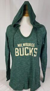 Brand New NBA Majestic Women's Milwaukee Bucks Pullover Hooded Sweatshirt