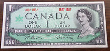1867-1967 CANADA Canadian $1 ONE DOLLAR BANKNOTE Commemorative Centennial Year