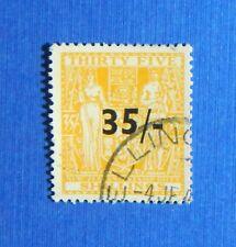 1939 35/- NEW ZEALAND STAMP DUTY REVENUE SCOTT# AR70 SG# F186 B#357 USED CS34522