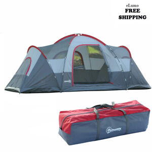 5/6 Person Lightweight Camping Tent Blue Storage Compartments Family Outdoor UK