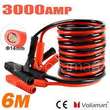 3000AMP 6M Heavy Duty Jump Leads Battery Start Booster Cables Truck with Clamp