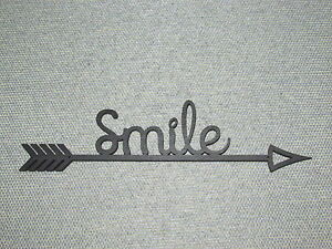 Wood Smile Word Arrow Wood Wall Sign Home Decor