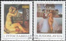 Joegoslavië 2603-2604 postfris 1993 Hedendaagse Art