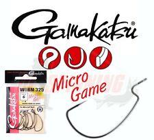Gamakatsu Micro Game WORM Offset Weedless 8pcs Hooks Cheburashka Lure Fishing