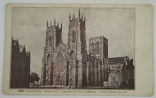 Postcard - York Minster, begun in 627, supported by King Athelstane, UK