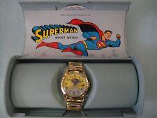 VINTAGE 1966 BRADLEY SUPERMAN No.105 WRIST WATCH SWISS MADE W/CASE DC COMICS