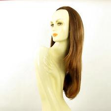 Demi-tête, demi-perruque 62cm châtain cuivré méché blond clair ref 019 en 6bt27b