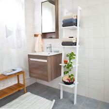 SoBuy® Bibliothèque Étagère murale style échelle,4 niveaux-Blanc, FRG15-W FR