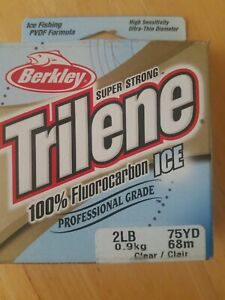 Berkley Trilene 100% Flurocarbon ICE 2lb 75yd Clear Fishing Line