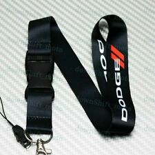 Car Neck Strap Lanyard Keyring Key Chain Cellphone for JDM DODGE CHARGER Black