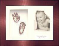NEUF bébé garçon fille Cadeau Présent 3D Empreinte de la main pied MOULAGE KIT
