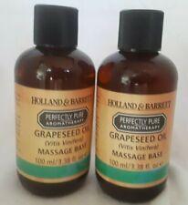 2 Bottles Holland & Barrett Grapeseed Oil Vitis Vinifera Massage Base 100ml New