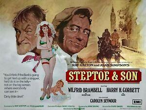 "STEPTOE AND SON the movie repro uk quad poster 30x40"" Harry H Corbett  rare"