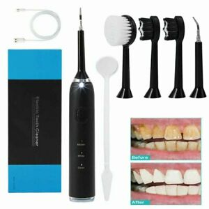 5 in 1 Tooth Polishing Cleaner Ultrasonic LED Electric Oral Teeth Cleaning Kit;