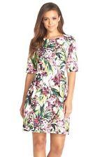 New KAYA & SLOANE Pleat Floral Jacquard Shift Dress Size M