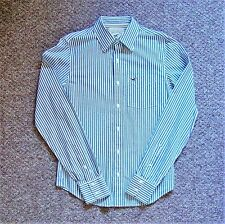 Blue & White Hollister Striped Patterned Long Sleeve Shirt Top (Small)