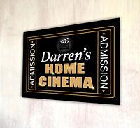 Signo de Barra de película Personalizado Home Cinema A4 Metal Puerta Placa sala de cine