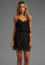 Women's Sz S DOLCE VITA Solid Black Silk Blend JERALYN DRESS