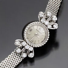 WOMAN'S 14K WHITE GOLD DIAMOND BRACELET LECOULTRE WATCH CA1950S