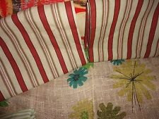 """WAVERLY GENERAL STORE RED & CREAM STRIPE (2PC) FABRIC 40 X 28 """"(0.77 YDS) EACH"""