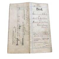 1885 - HARRISBURG PA - Deed Property - ANTIQUE VINTAGE - REILY SELLERS