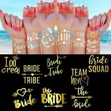 Hen Party Tattoos | Hen Night Accessories | Bride Tribe | Team Bride | Rose Gold