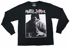 Tupac Shakur Poetic Justice Chemistry Vintage 90s T-Shirt Tee Black Long Sleeve