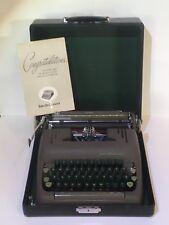 VINTAGE SMITH CORONA SILENT PORTABLE TYPEWRITER GREEN KEYS 5S MODEL