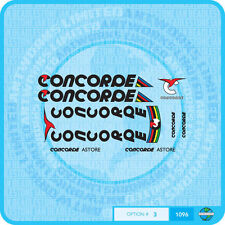 Concorde Astore Bicycle Decals - Transfers - Stickers - Set 3 - Black Text