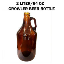 New 2L(64 OZ) Amber Glass Beer Bottle/Growler