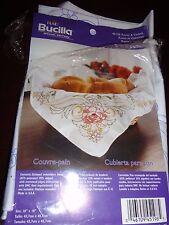 "BUCILLA CUBIERTA PARA PAN EMBROIDERY KIT BREAD COVER 18"" X 18"""