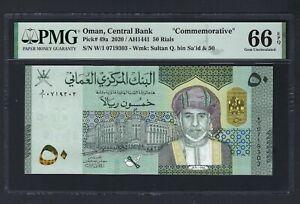 Oman 50 Rial 2020/AH1441 P49a Commemorative Uncirculated Graded 66