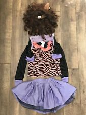Girls Monster High Clawdeen Wolf Fancy Dress Costume Halloween Outfit age 8-10