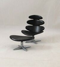 Chair - Corona & Ottoman by Poul Volter 1964 classic miniature S8012 1/12 scale