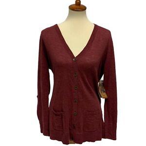 RuffHewn women's cardigan button front long sleeve cotton size XL