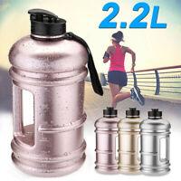 2.2L Big Large BPA Free Sport Gym Training Drink Water Bottle Cap Kettle