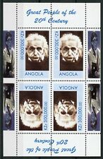 Angola MNH Great Famous People of 20th Century Einstein 4v M/S Science Stamps