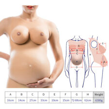 Women's Fullbody Pregnant Belly CD TG TV Silicone Breast Form Drag Queen EE Cup