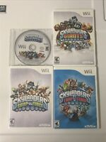 4 Skylanders Games Nintendo Wii Giants Swap Force Trap Team Spyro's Adventure