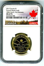 2017 CANADA $1 TORONTO MAPLE LEAFS NGC MS67 PL DOLLAR LOON LOONIE FIRST RELEASES