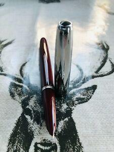 "1950's Parker 51 Aerometric fountain pen, 14k F nib, steel ""mirror shine"" cap"