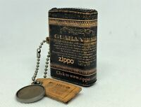 """Rare! ZIPPO Limited Edition """"Guarantee"""" Leather-Bound Lighter w Cent & Tag Charm"""