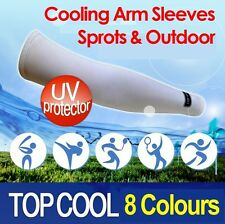 Cooling Sport Arm Stretch Sleeves Sun Block UV Protection Cycling Covers 1 Pair