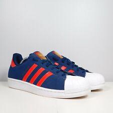 Adidas C7737 Superstar Originals Stripes Men's Running Shoes Blue/Red Size 10.5