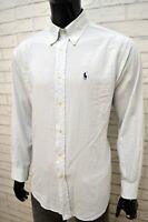 Camicia Uomo RALPH LAUREN YARMOUTH Taglia 34 XL Camicetta Manica Lunga Shirt Man